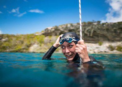 BREAKING: Alessia Zecchini Sets New Women's Freediving World Record To 102m - Freediving UAE
