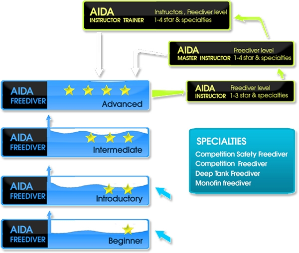 AIDA Learning ladder - Freediving UAE