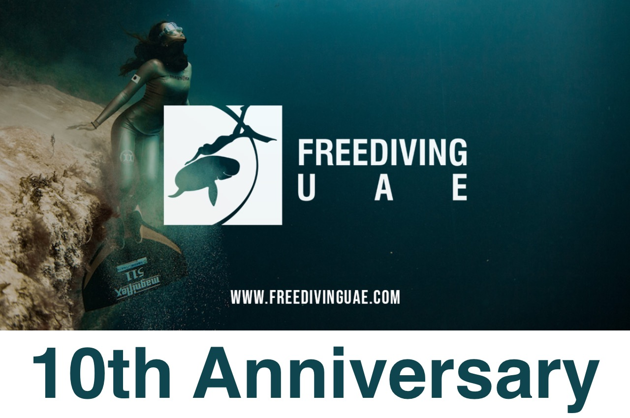 Freediving UAE celebrates the 10th anniversary - Freediving in United Arab Emirates. Courses, Certificates and Equipment