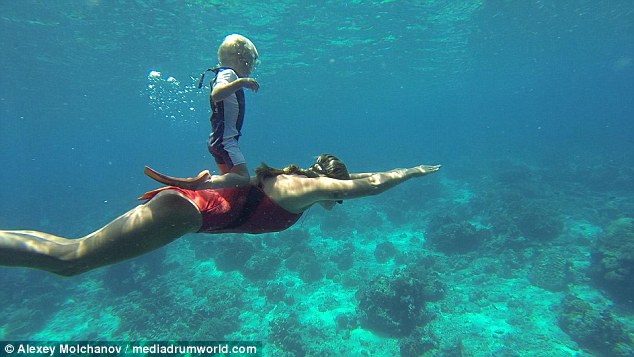 ... Fedor has been diving without aged oxygen since he was a two-year-old